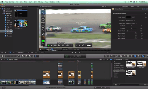 Tracking Motion in FCPX Using TrackX by CoreMelt