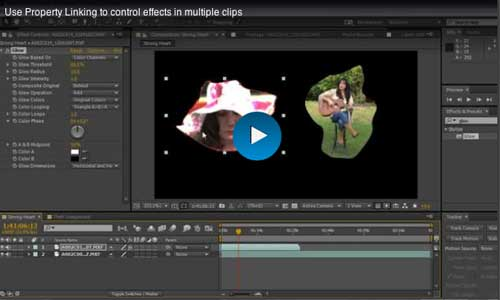 Use Property Linking to Control Effects in Multiple Clips