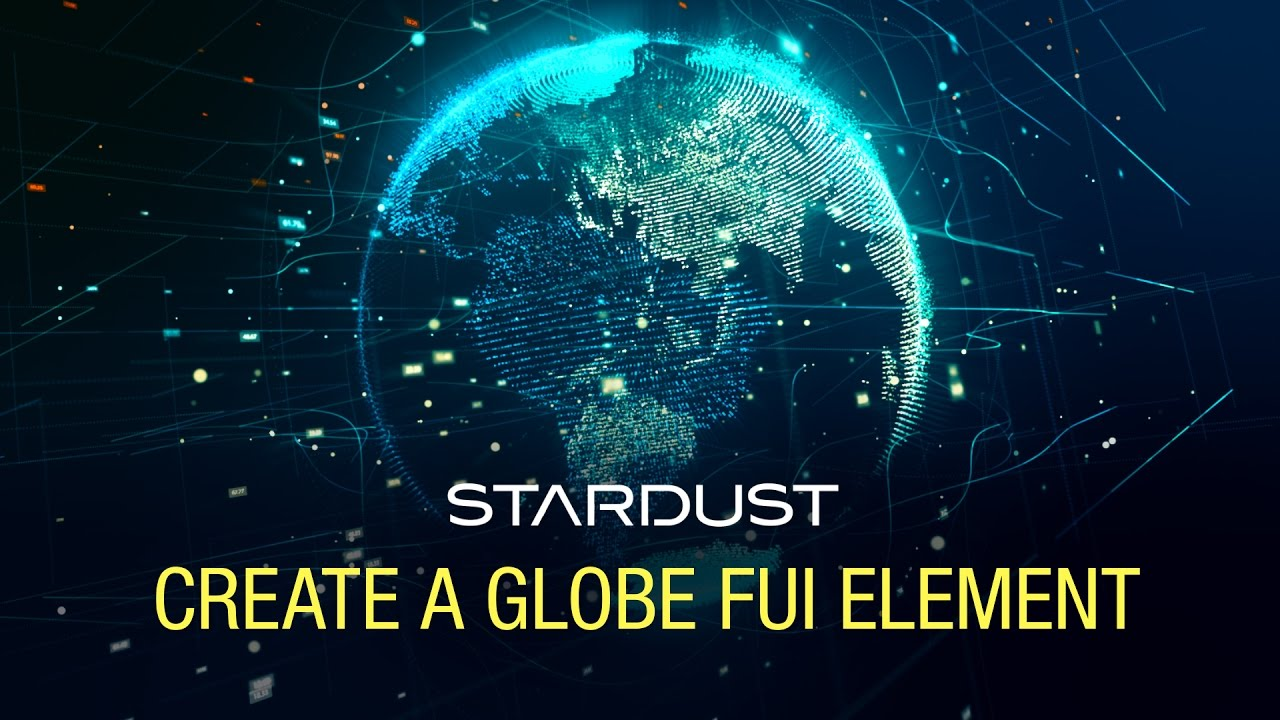 Make a Earth FUI Element with Stardust in After Effects