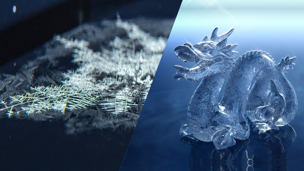 Procedural Growing Frost Cinema 4D & X-Particles + Creating a Realistic Ice Material in Arnold 5