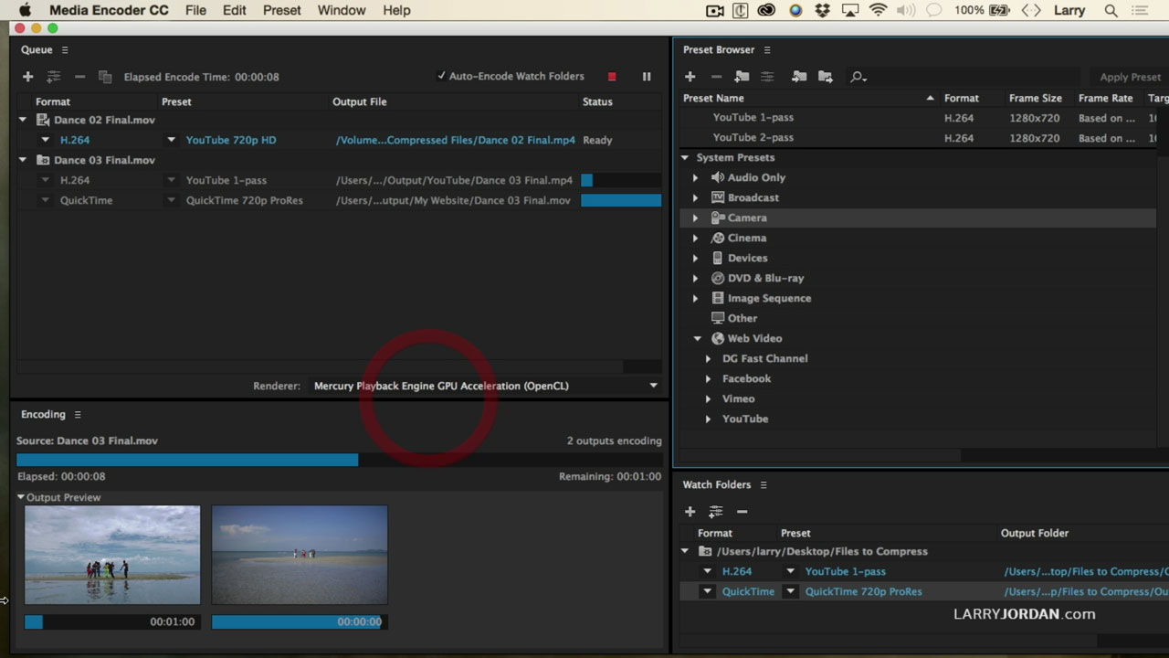 Adobe Media Encoder: Create Watch Folders