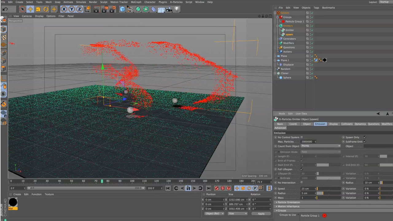 Grow X-Particles With Mograph and the Proximal Shader