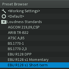 rxl oudness presets