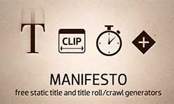 Freebie: Noise Industries Manifesto plug-in for FCP, Motion, AE + FxFactory Update