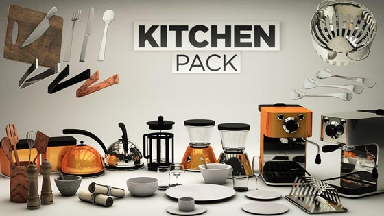 New: The Pixel Lab Kitchen Pack for Cinema 4D - Toolfarm
