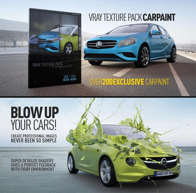 New: Renderking Vray Texture Pack - CarPaint for CINEMA 4D - Toolfarm