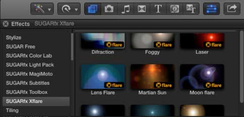 Xflare in FCPX