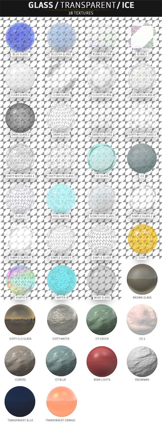 pixel lab materials pack glass